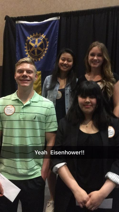 Four Eisenhower Cadets win Rotary Scholarships