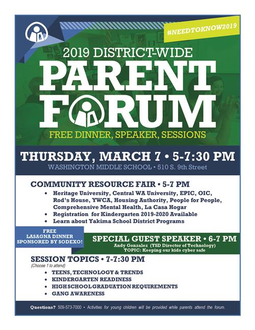 Parent Forum Flyer - English