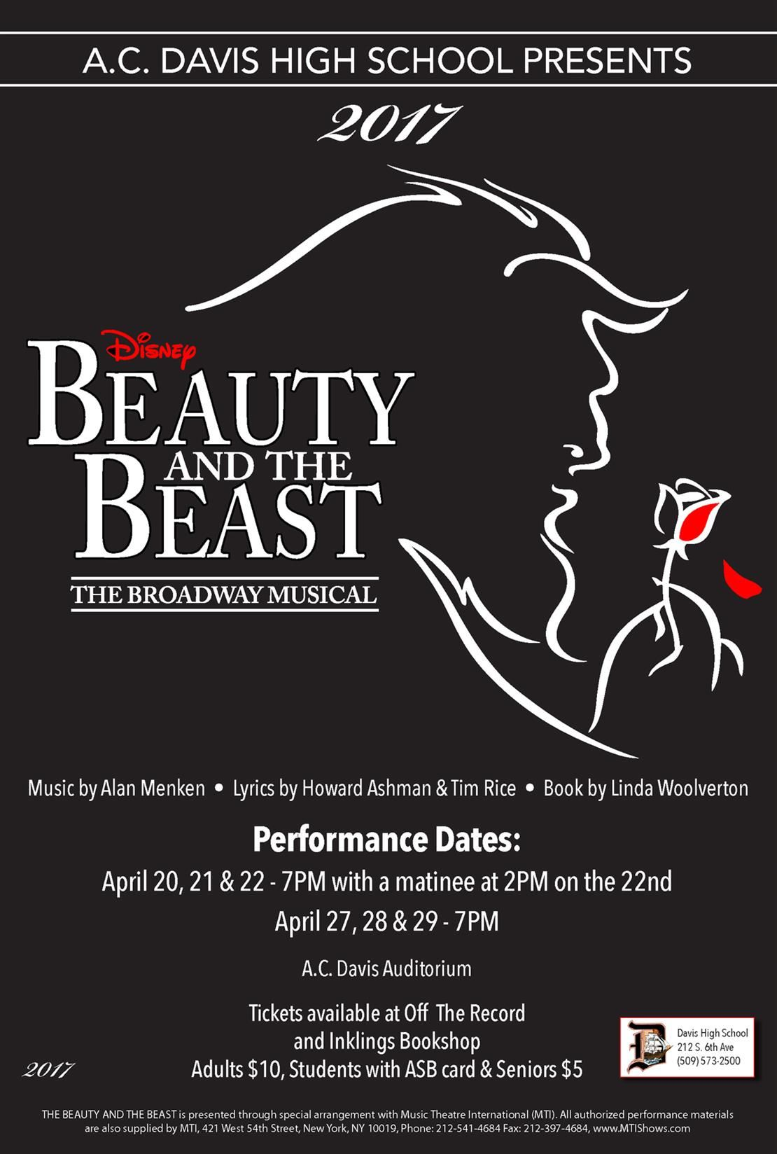 Davis spring musical Beauty and the Beast