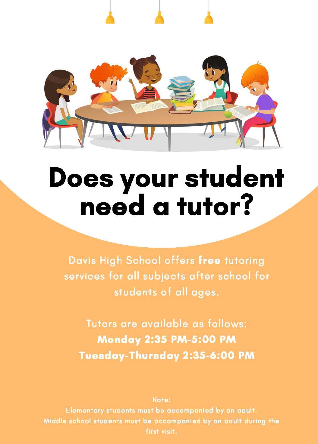 Student Tutoring at Davis High School
