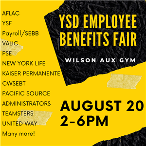 Employee Benefits Fair Aug 20 2-6pm