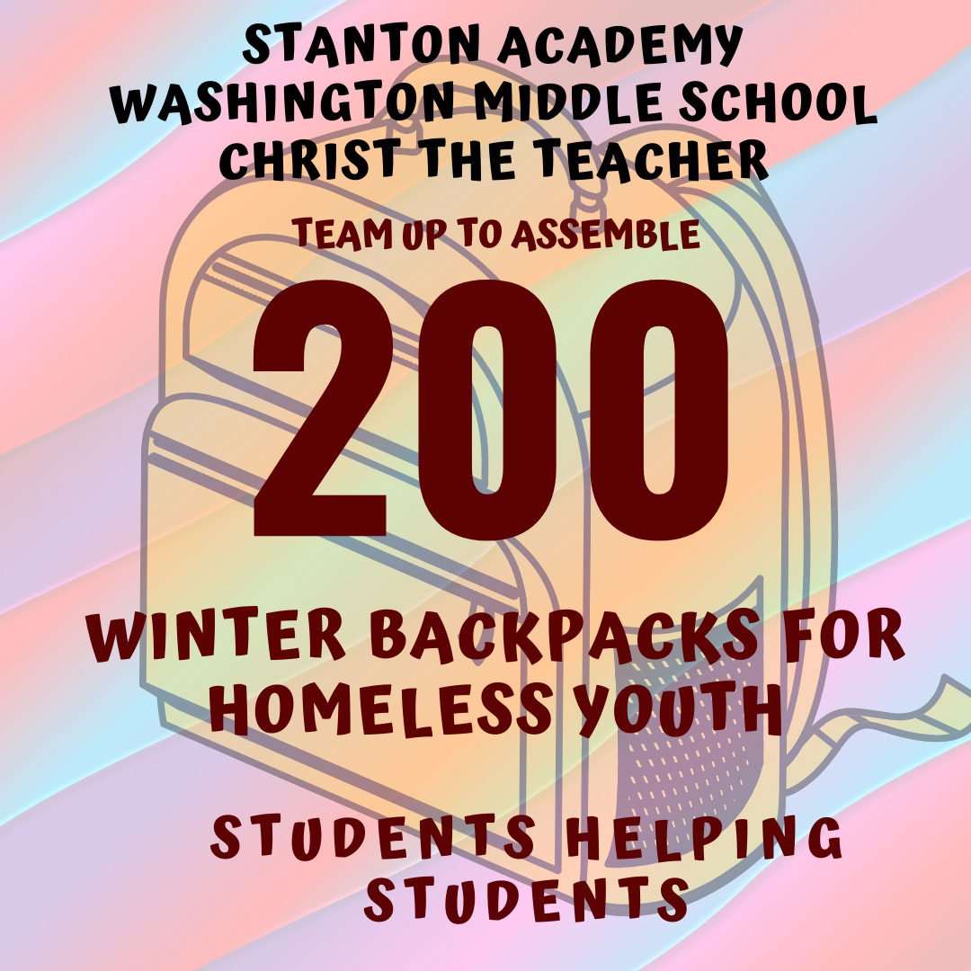 200 backpacks donated by students