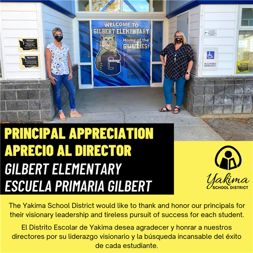 Principal Appreciation Image for Gilbert Elementary