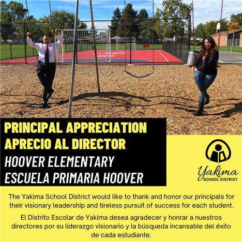 Principal Appreciation Image for Hoover Elementary